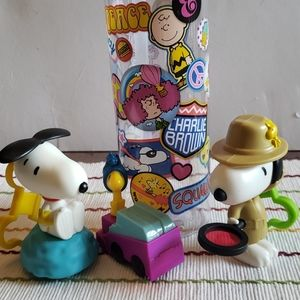 Peanuts happy meal toys and Tritan water b…